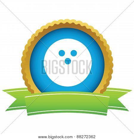 Gold bowling logo