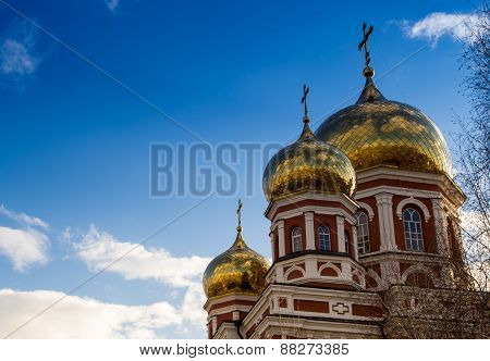 Classical Golden Church Spires