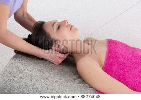 Therapist Doing Shoulder Massage