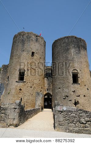 Castle Of Villandraut In Gironde