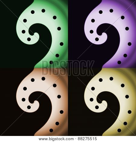 Abstraction pattern with four spirals