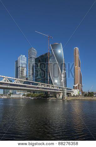 Bagration Bridge. Business Center Moscow City.