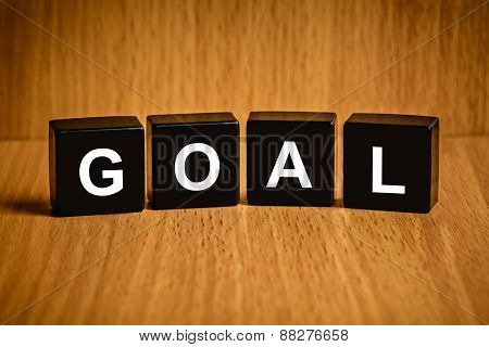 Business Goal Word On Black Block