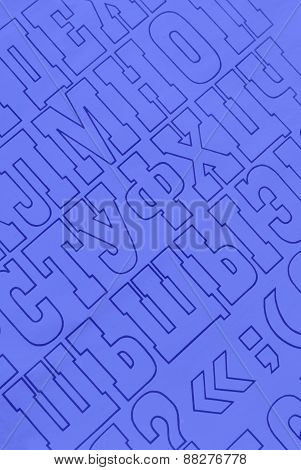 blue cyrillic alphabet letters printed on white paper