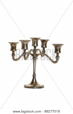 silver candelabra antique