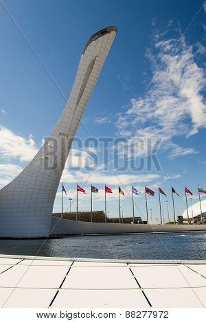 Sochi Flame Cauldron Statue