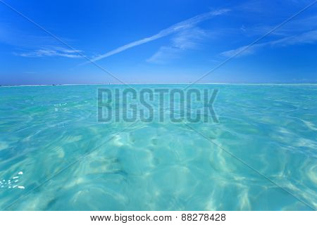 Blue sky and Caribbean sea