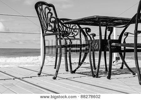 Black Cast Iron Chairs