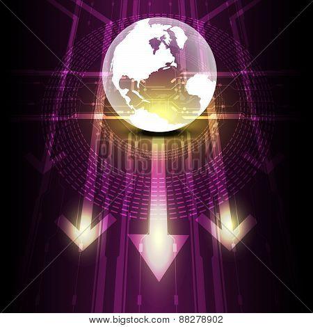 Transparent Globe Digital Future Technology