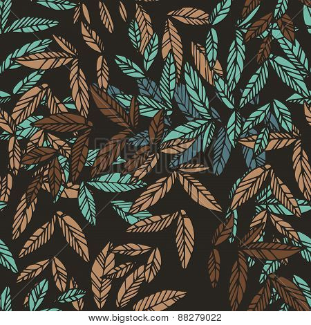 Seamless floral drammatic pattern
