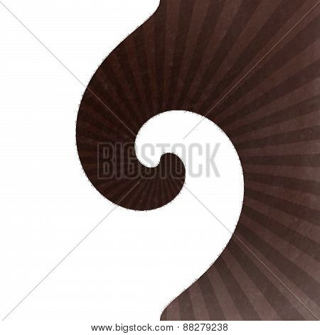 Abstraction decorative wave