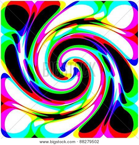 Bright Multicolored Abstract decorative spiral
