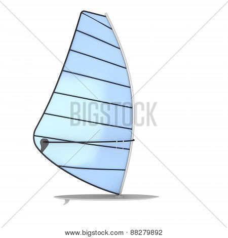 Sailboard On A White