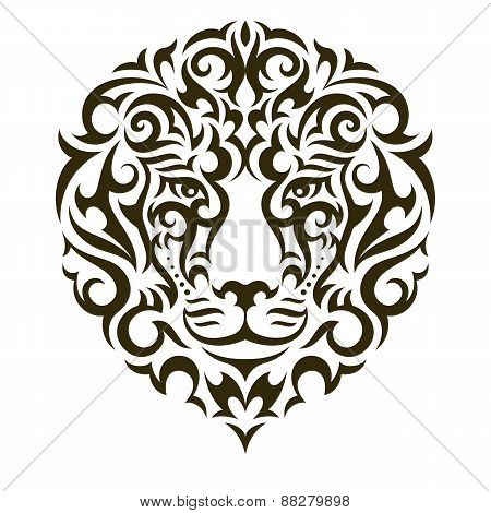 Lion vector tattoo illustration