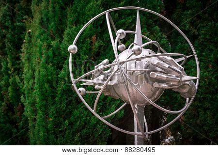 Space Exploration Statue