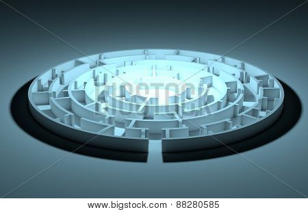 Illustration of round maze