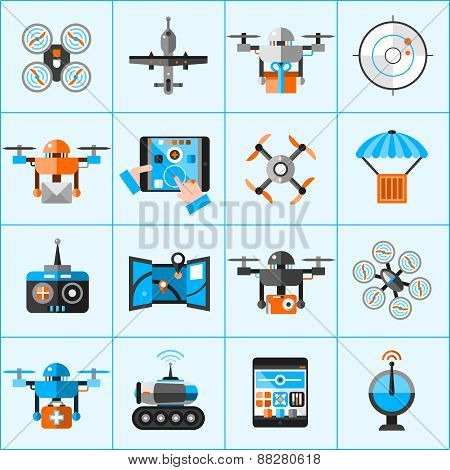 Drone Icons Set