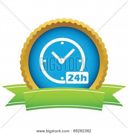 Gold clock logo