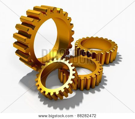 Golden Cog Gears Over White