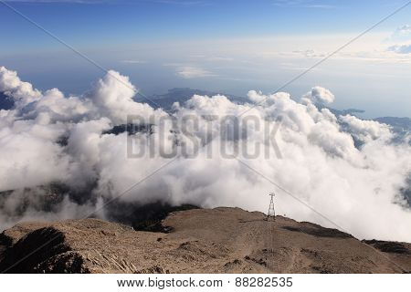 The Panoramic View From Olympos Mountain (tahtali), Kemer, Antalya Province, Turkey