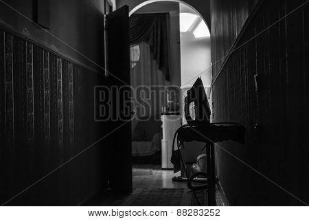 Black And White Iron Hallway