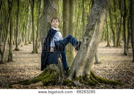 Boy With Black Cape