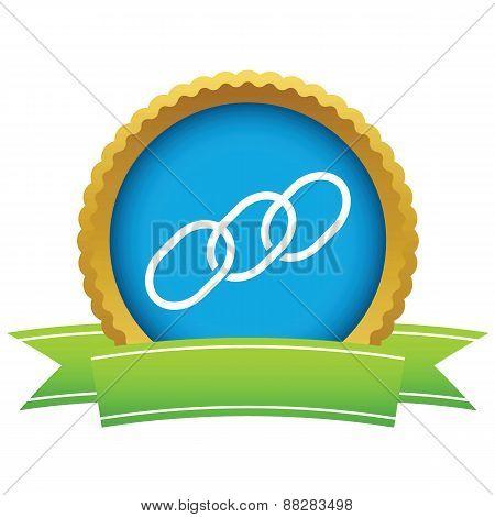 Gold chain logo