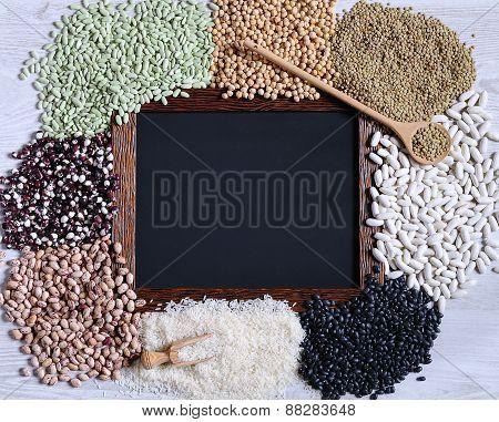 Legumes With Blackboard.