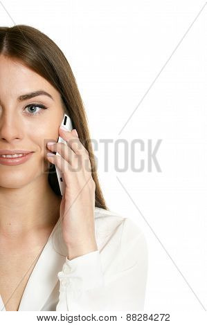 Beautiful girl with mobile phone