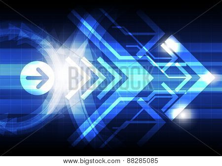 Abstract Arrow Design Background