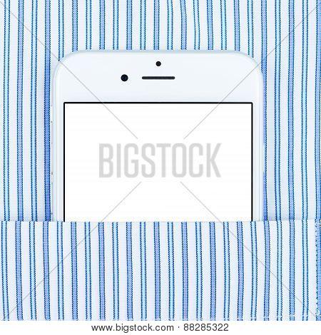 Modern smartphone in the pocket