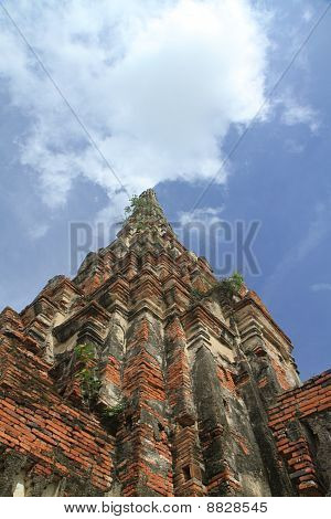 Wat Chaiwatthanaram in ayuthaya, central of Thailand.