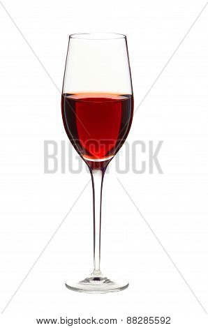 Wineglass With Red Wine Isolated On White