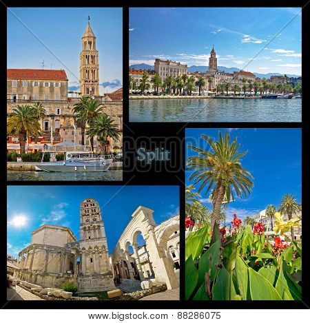 City Of Split Nature And Architecture Collage