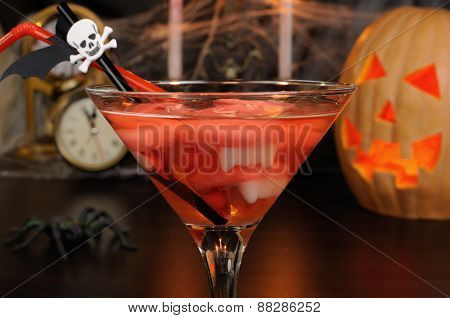 A Cocktail With Vampire Teeth