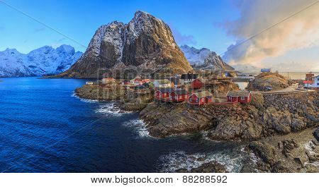 fishing village, Lofoten, Norway