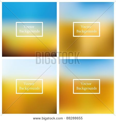 Abstract Creative  vector multicolored 4 blurred background.