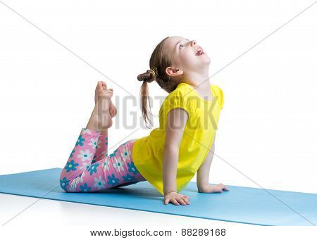 Kid doing fitness exercises