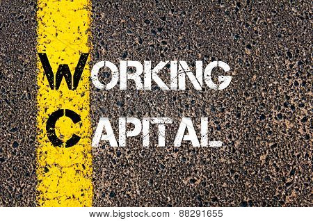 Business Acronym Wc As Working Capital