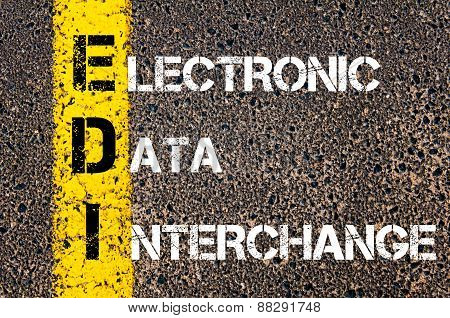 Business Acronym Edi As Electronic Data Interchange