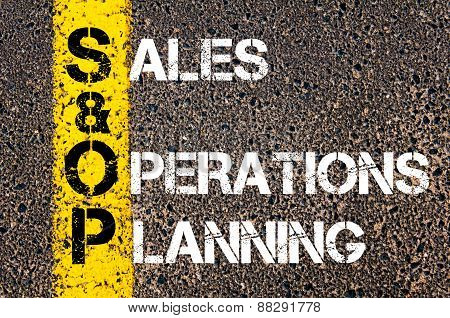 Business Acronym Sop As Sales And Operations Planning