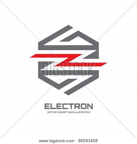 Electron - vector logo concept illustration. Lightning logo.