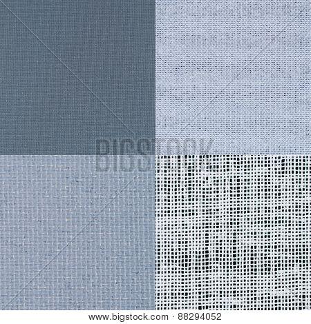 Set Of Blue Vinyl Samples