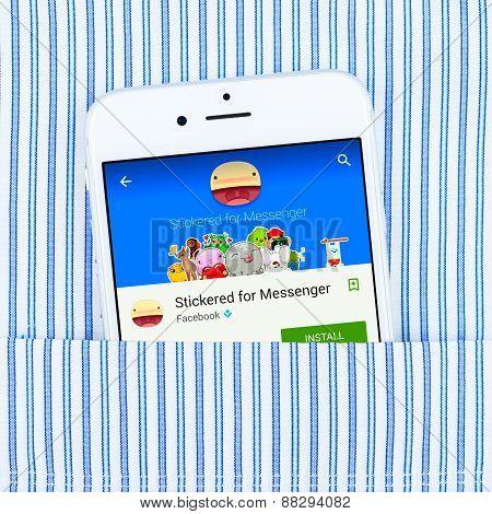 Stickered for messenger application