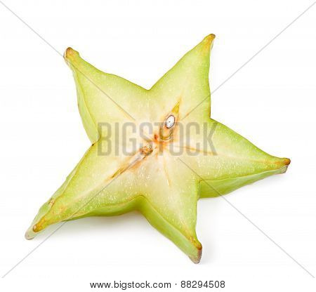 carambola on the white background