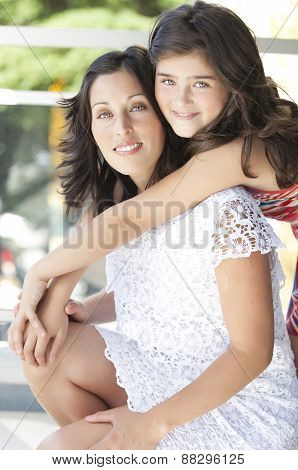 Mother with her beautiful daughter