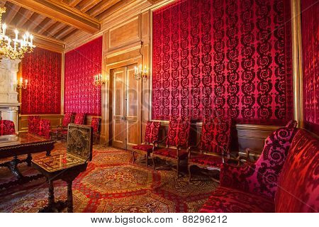 Interior Of Pau Castle (chateau De Pau), France