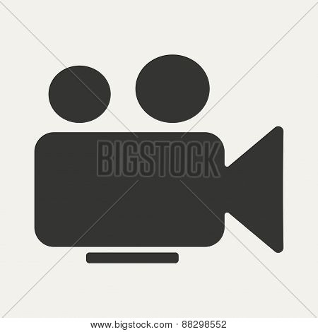 Flat in black and white mobile application camera