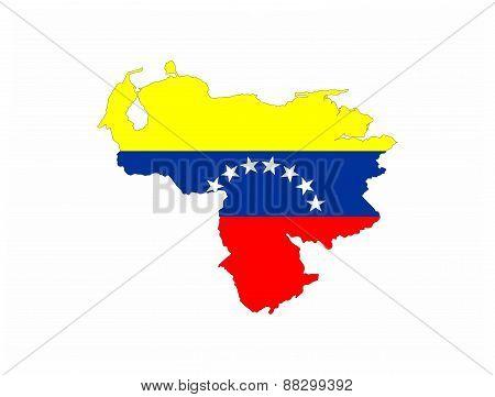 venezuela flag map