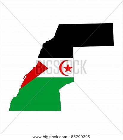 Western Sahara Flag Map